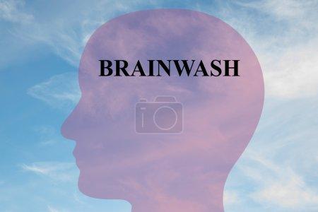 Brainwash concept illustration