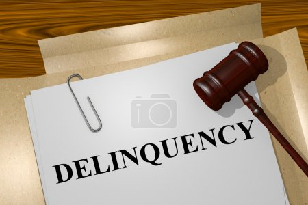 Delinquency concept illustration