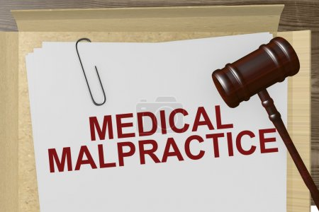 Medical Malpractice Paperwork On Legal Papers...