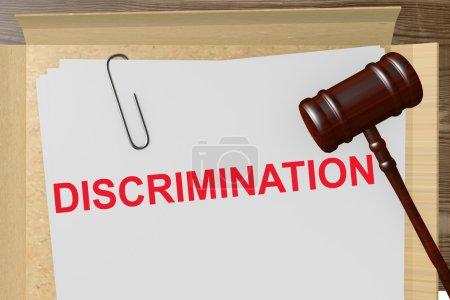Photo pour Titre de la discrimination sur des Documents juridiques - image libre de droit