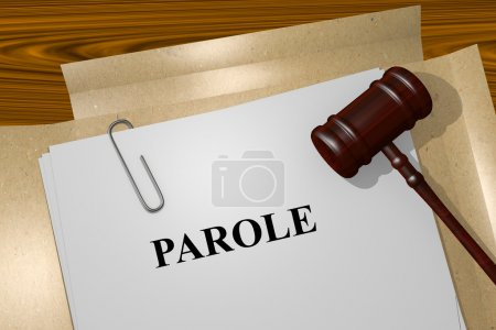 Parole concept with legal documents
