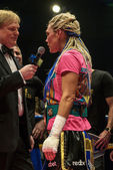 Titul WBC boxerský zápas mezi Mikaela Lauren (Swe) a Ivana Ha