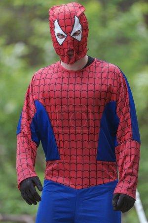 Spiderman at Tough Viking obstacle