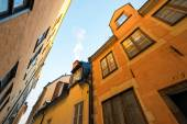 Colorful facades in the old town of Stockholm