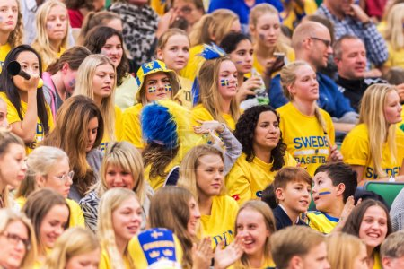 Swedish fans at the Women European Basketball Qualifier game bet