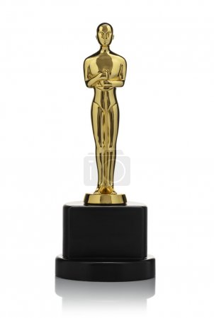 Isolated Golden Statuette
