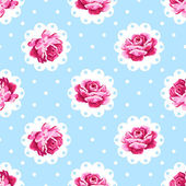 Beautiful floral seamless pattern Shabby chic style background