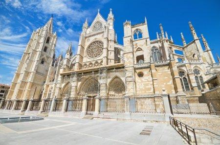 Photo pour Cathédrale de Léon, Castilla y Leon, Espagne . - image libre de droit