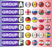 Flags football championship are divided into groups