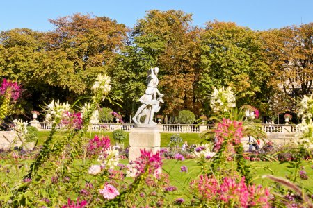 Photo for Paris, France - September 23, 2013:  Statue of Diane Chasseresse (Diana Huntress) in Luxembourg garden (Jardin du Luxembourg). - Royalty Free Image
