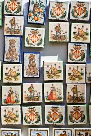 Souvenir magnets in Valencia, Spain.