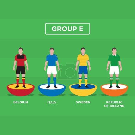 Figurine Football (Soccer). Euro 2016, group E.