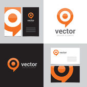 Design element with two business cards - 02