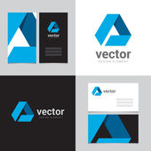 Design element with two business cards - 01
