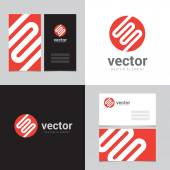Design element with two business cards - 04