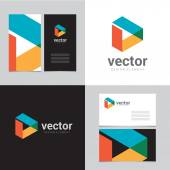 Logo design element with two business cards - 08
