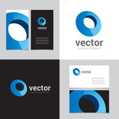 Logo design element with two business cards - 09