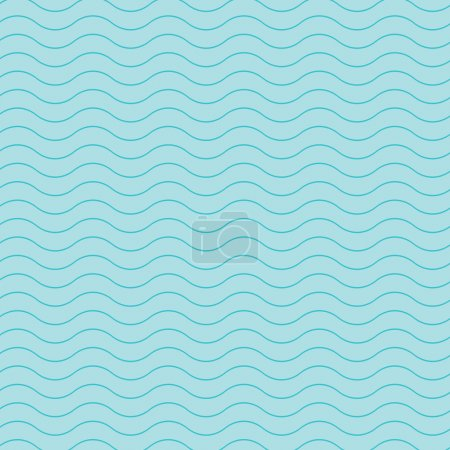 Illustration for Wave pattern background. Vintage vector pattern. - Royalty Free Image