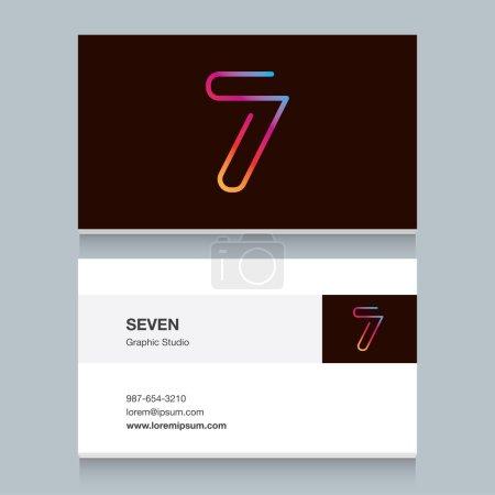 """Logo number seven """"7"""""""