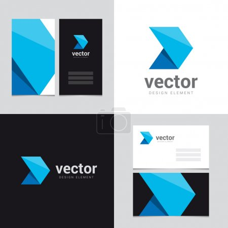 Illustration for Logo design element with two business cards template - 23 - Vector graphic design elements for brand identity. - Royalty Free Image