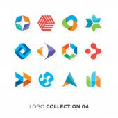 Logo collection 04 Vector graphic design elements for company logo
