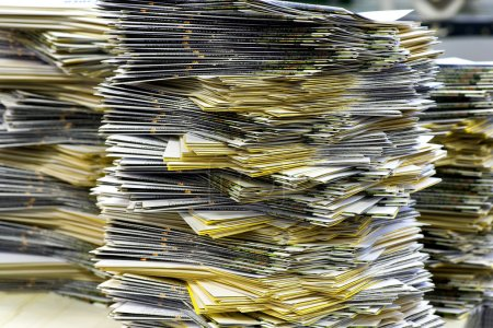 Piles of Plenty Mailing Sheets at the Office