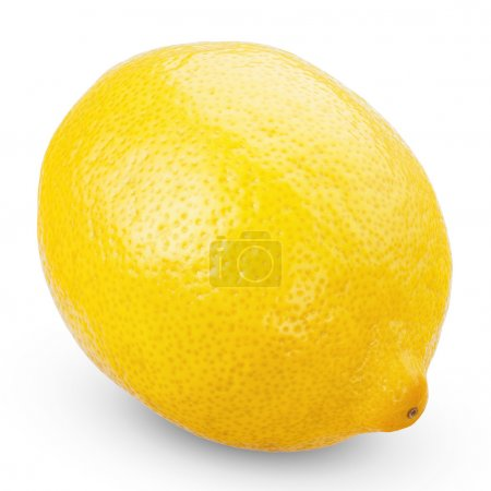 Photo for Fresh ripe lemons isolated on white background with clipping path - Royalty Free Image