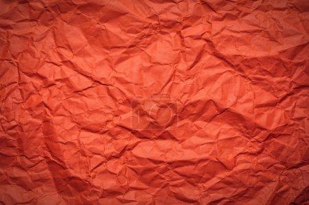 Photo pour Orange Fond en papier froissé - image libre de droit