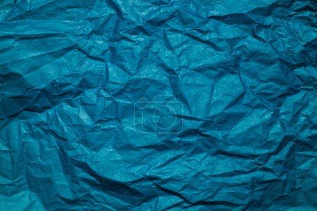 Photo pour Fond en papier froissé bleu - image libre de droit