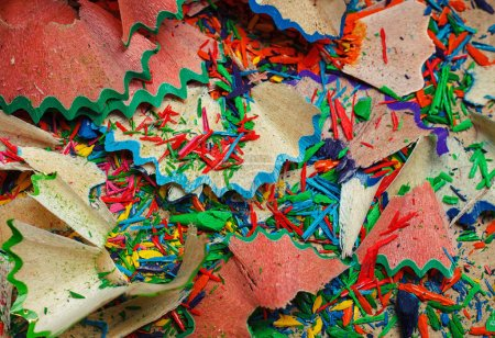Photo for Colored pencil shavings background - Royalty Free Image