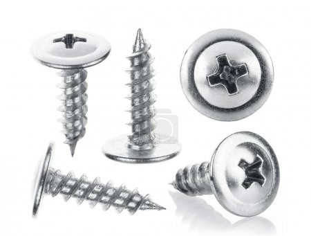 Photo for Screw in different angles on white background - Royalty Free Image