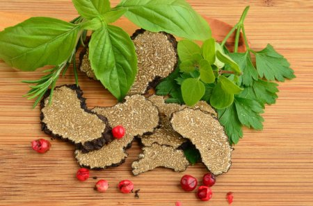 Sliced truffle