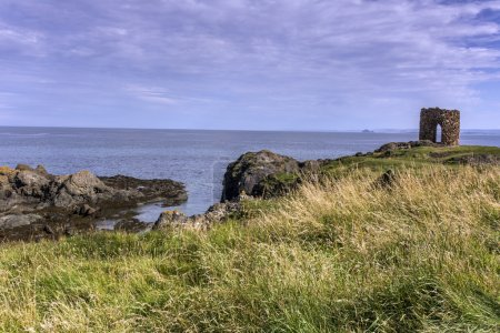 Sunny coastline in Elie Scotland