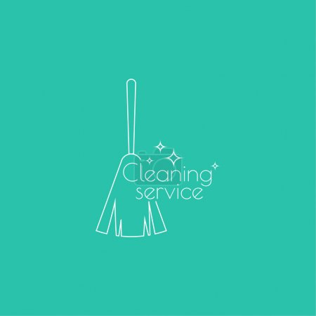 Vector icon hand brooms.