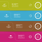 Strips of paper of different colors with pointers for infographic numbered bannersgraphic or website layout vector template for business reports
