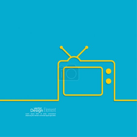 Abstract background with old TV