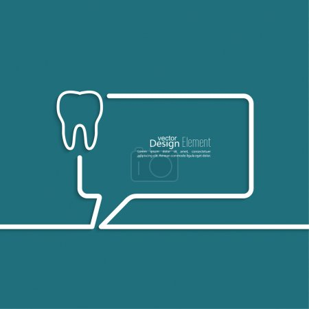 Illustration pour Fond abstrait avec symbole Bulles de parole. Les grandes lignes. Racines dentaires, dossier dentaire - image libre de droit