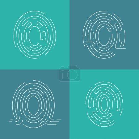 Set of icons fingerprint