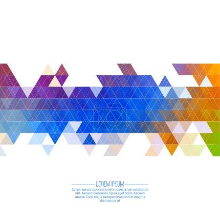 Illustration pour Modèle de triangle abstrait créatif. Fond mosaïque polygonale. Hipster couverture colorée, vibrante. Pour l'emballage, tissu, sites Web, impression, livret, dépliant, bannière, application mobile, modèle de rapport annuel - image libre de droit
