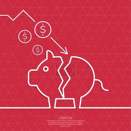 Broken pig piggy bank.