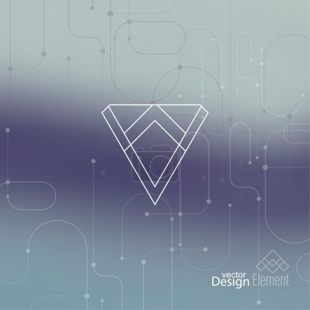 Illustration for Abstract neat Blurred Background. Hipster Geometric shape, line and dot. Modern Signs, Label. For cover book, brochure, flyer, poster, magazine, cd, website, app mobile, annual report, T-shirt, logo - Royalty Free Image
