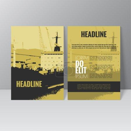 Vector brochure template design. L