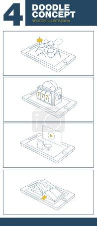 vector illustration set