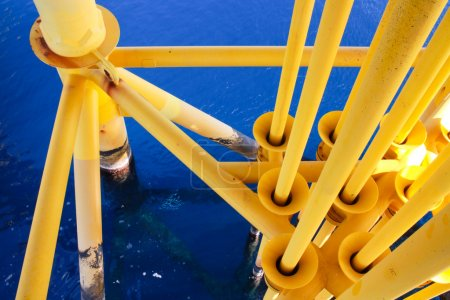 Oil and Gas Producing Slots at Offshore Platform - Oil and Gas Industry, Bad weather in offshore oil and gas industry.
