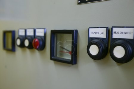Close up of an Electric meter,Electric utility meters for an apartment complex or offshore oil and gas plant