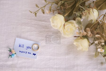 Will you marry me background, Wedding studio concept.