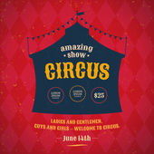 Poster for the circus Silhouette circus tent Vector