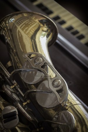 Old Saxophone Piano