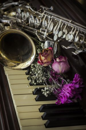 Flowers Saxophone Piano