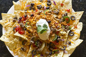 Nachos with Rice and Sour Cream